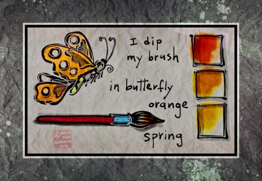 ©13 Brush Dip Orange 2 sml6x