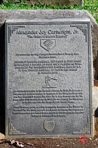 ©13 Alexander Joy Cartwright, Jr. plaque Father of Modern Baseball 1 sml 6x
