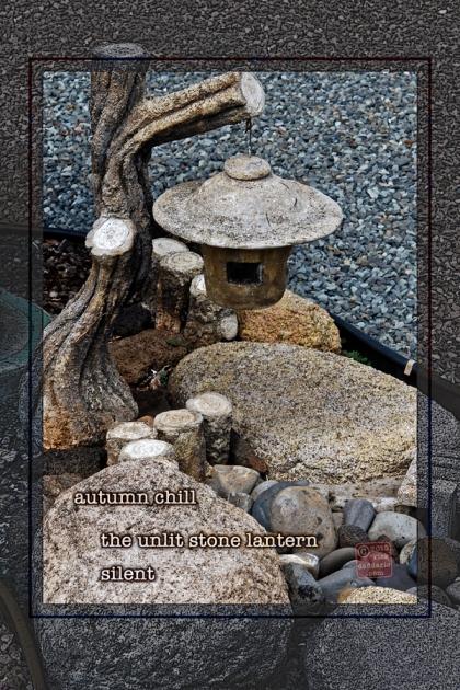 ©13 Unlit Stone Lantern 3 sml 6x