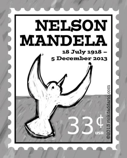 ©13 Mandela Fau 33 Cent Postcard 1 sml 6x